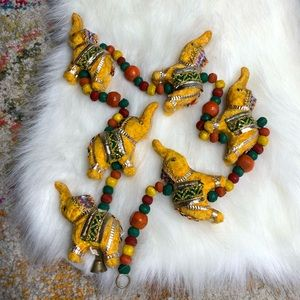 Vintage Elephant Long Hanging Garland Beaded